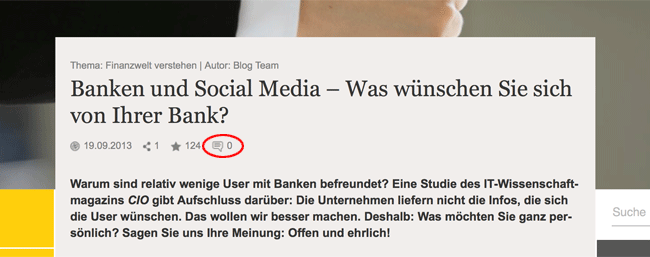 Commerzbank Blog Banken und Social-Media