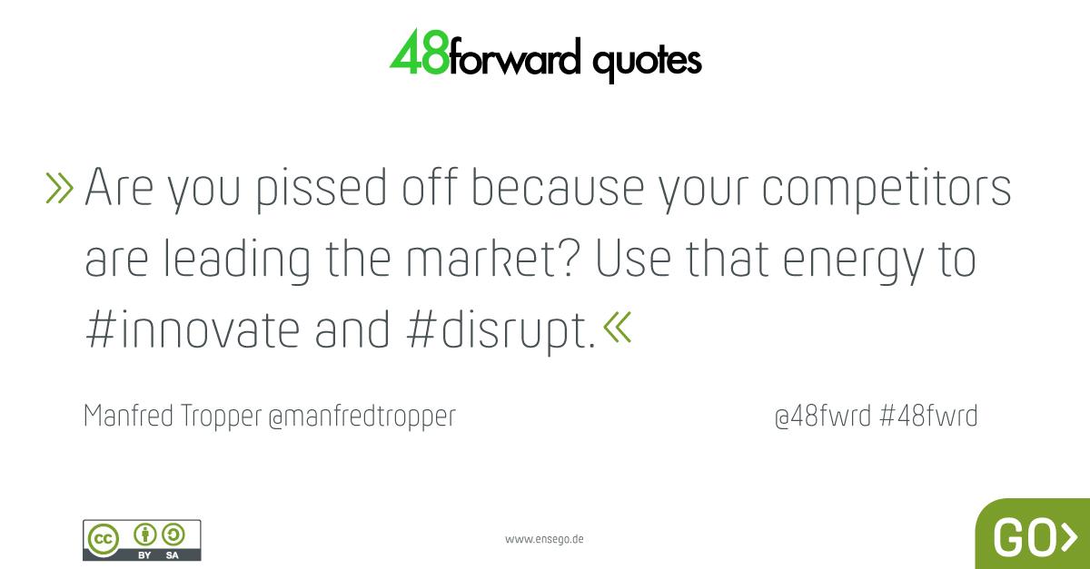 Manfred Tropper innovate disrupt