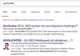 Xovilichter Google Ergebnisse vom 09.05.2014 12.00 Uhr